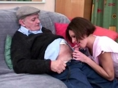 Papy and a first-class mate banging hard this horny milf