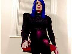 Nessav Stroking it cd crossdress sissy