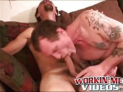 Bearded seniors sucking each others dick until a hot facial