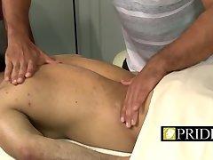 Handsome guys sucking penis after massage