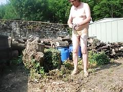 transvestite garden man dildo anal fisting sextoy sissy 32