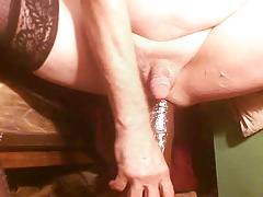 DOMINATING MY WHITE ASS WITH HUGE BLACK TOYS AND FIST