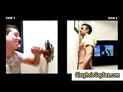 Straight guy gets tricked into glory hole