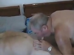 A older mature men sucking another mature older men cock