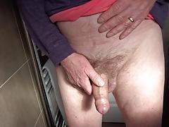 peeing hard