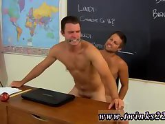 Hot gay guys enjoy drilling in the class