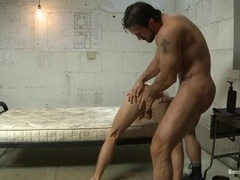 Phenix Saint plays with Randall O'Reilly's cock and fucks his hot mouth