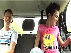 Teen Trio In A Car