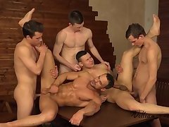 5 allies bare Easter jerk off Party