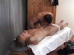 the masseur is a tease