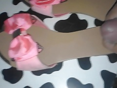 gipsy friend pink mules cummed 2