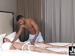 Handsome Jae Amen slides his black cock in Zane Anders ass