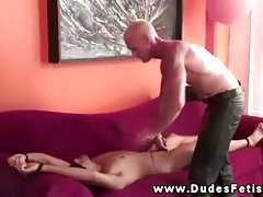 Master paddling and clamping his subs body