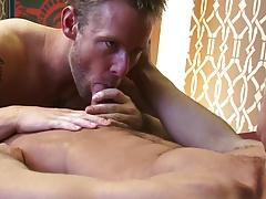 TWO HANDSOME MEN FUCKING WITH DILDO