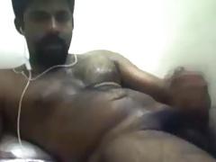 Hairy arab jerking