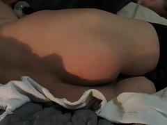 Femboy plays with bad dragon dildo and gets creampied (full)