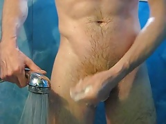 Soap and water for my big dick in the tub.