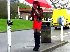 Mandy Smoking Service Station Hooker