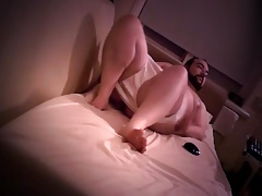 Amateur Bear Chub Huge Butt Tease on Webcam