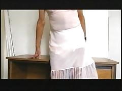 the 'office' secratery in 'her' underwear.
