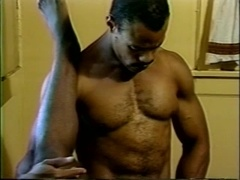 Three sexy black homos make out and drill each other's assholes