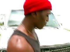 Hungry interracial gay bj thug