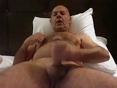 Daddy jerking off on cam