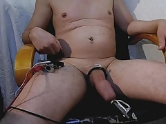 foreskin inflating with water prepuce gonfle eau Electrostim