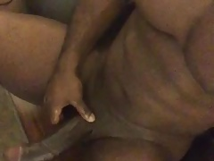 Black Muscle BBC Jerks Off & Cums