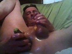Old sissy toy milking