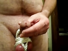 cbt small thick dick & big tight balls tied up play