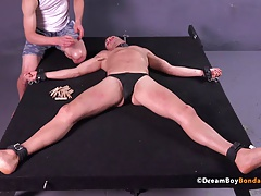 Italian Stud Tortured Gay Bondage BDSM Uncut Muscle Twink