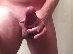 Jerking off for cum relief