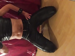 My new black leather pants together with a black shirt II