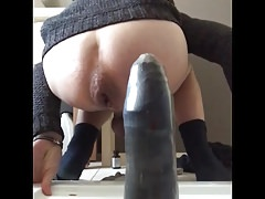 Hard fisted after whipping cock and balls