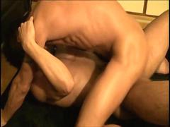 Asian twink gets his oiled up ass fucked by a lover