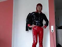 Hot Tranny Ass in PVC