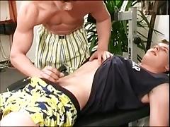 Boys Threesome in Gym