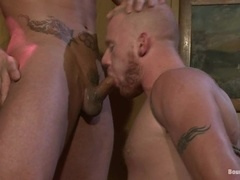 Luke Riley gets his ass and mouth toyed and fucked by Phenix Saint