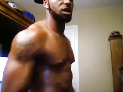 Black muscular guy with big dick