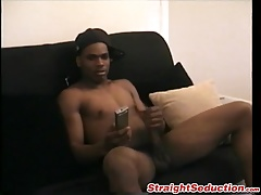 Kinky ebony thug has interracial sexy time with his friend