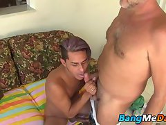 Cesar lays over Victor Cody thrusting him down his throat