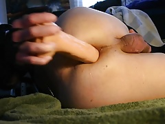 CD prostate cum, hard dildo ass fucking, gaping