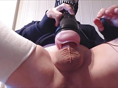 My solo 87 (Legs up pink lady fuck and cum wearing my mask)