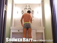 ShowerBait Str8 Brenner Bolton shower fucks Scott Demarco