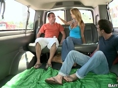 Lewd poofter feels glad to get his ass drilled in a car