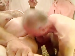 Mature men sucking a another mature men's cock