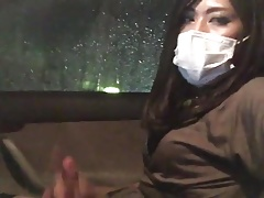 Asian CD faps in car