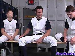 Baseball studs analfucking in lockerroom