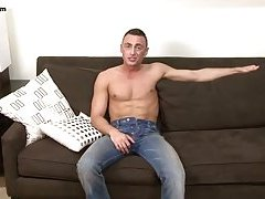 Hot guy finger fucks himself